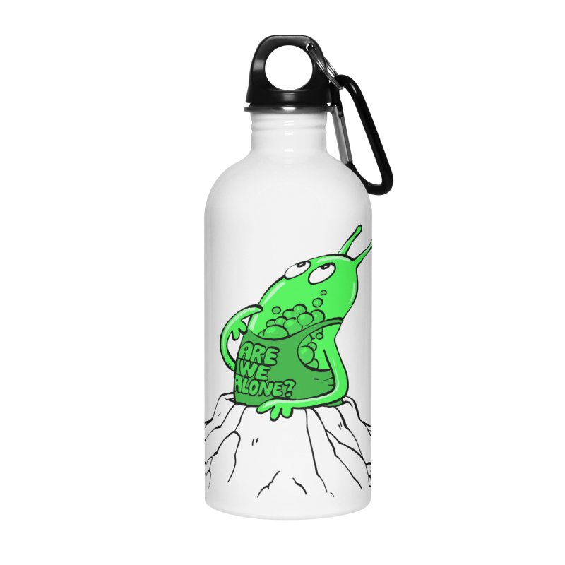 Are We Alone? Accessories Water Bottle by Freehand
