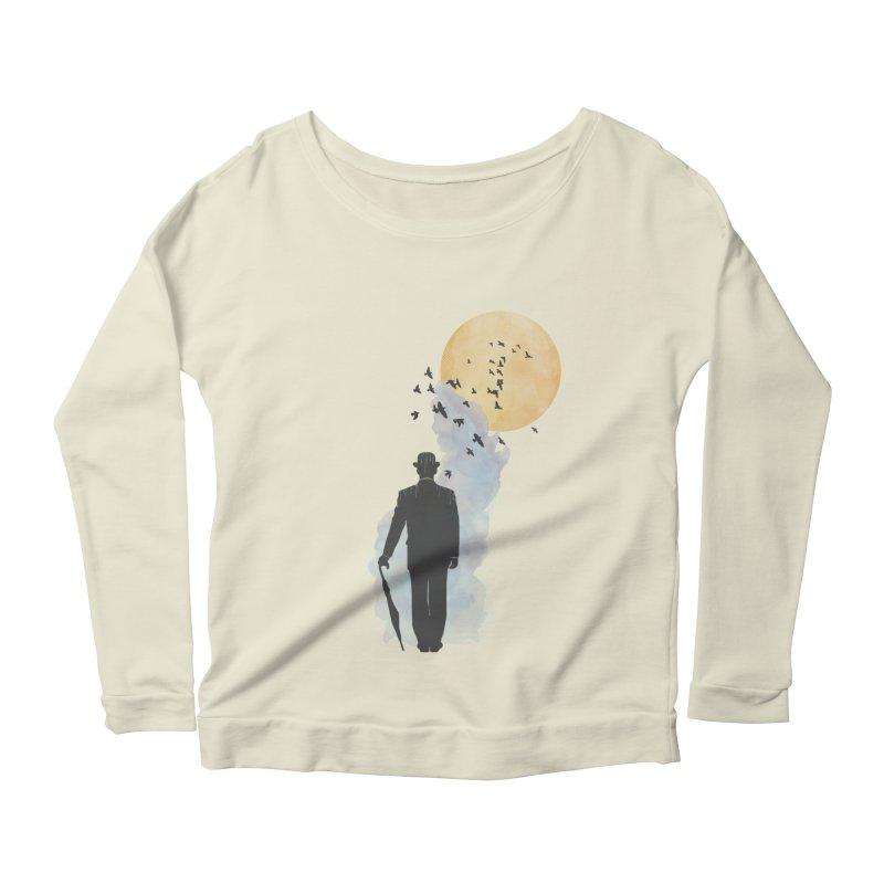 Free Birds Women's Longsleeve Scoopneck  by freeimagination's Artist Shop