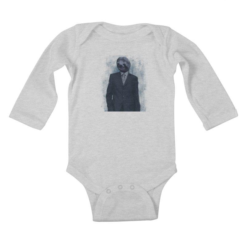 Slow Business Kids Baby Longsleeve Bodysuit by freeimagination's Artist Shop