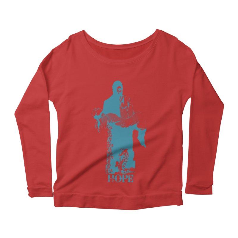 Hope Women's Longsleeve Scoopneck  by freeimagination's Artist Shop