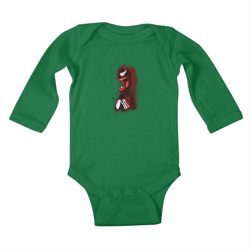 Into The Darkness Kids Baby Longsleeve Bodysuit by freeimagination's Artist Shop