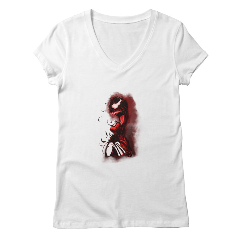 Into The Darkness Women's V-Neck by freeimagination's Artist Shop
