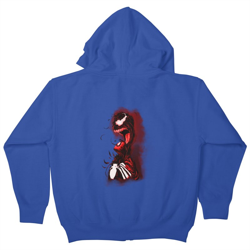 Into The Darkness Kids Zip-Up Hoody by freeimagination's Artist Shop