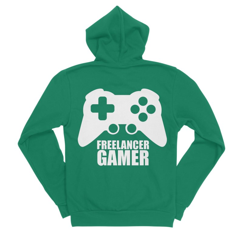 Freelancer Gamer Men's Sponge Fleece Zip-Up Hoody by freelancergamer's Artist Shop