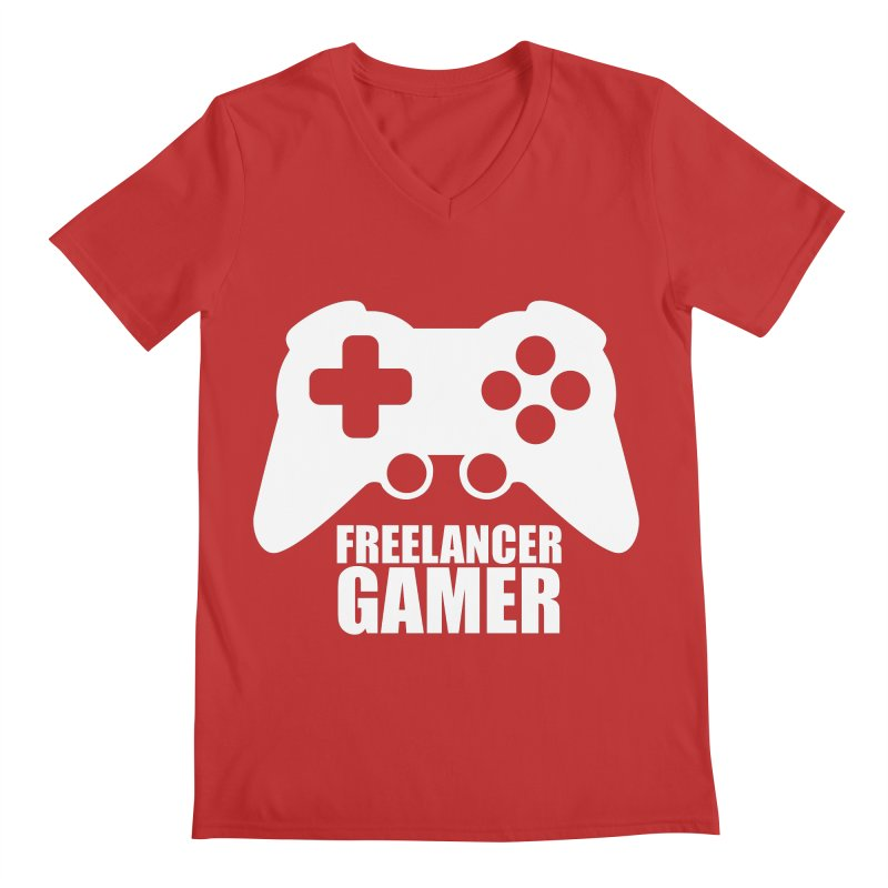 Freelancer Gamer Men's V-Neck by freelancergamer's Artist Shop