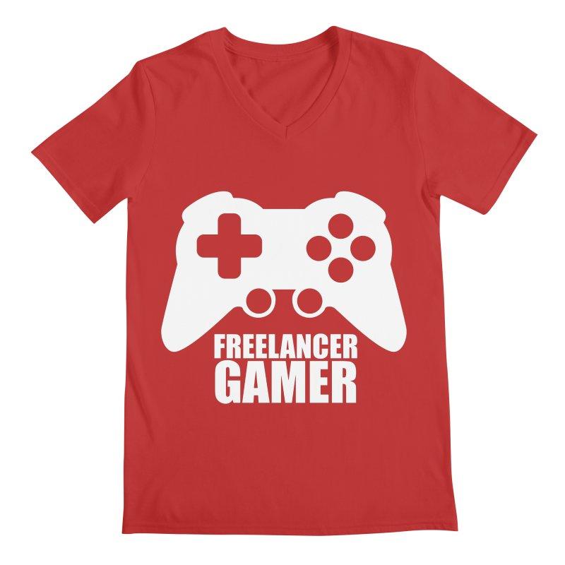 Freelancer Gamer Men's Regular V-Neck by freelancergamer's Artist Shop