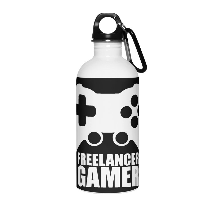 Freelancer Gamer Accessories Water Bottle by freelancergamer's Artist Shop