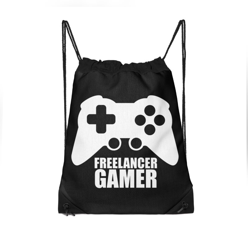 Freelancer Gamer Accessories Drawstring Bag Bag by freelancergamer's Artist Shop