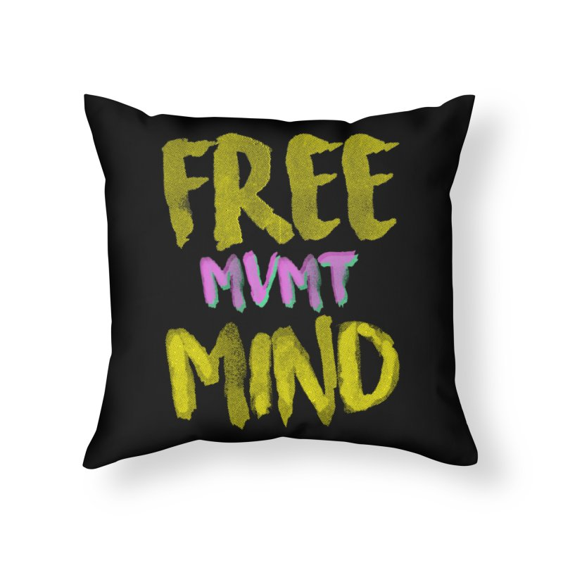 Freemind Black BG Home Throw Pillow by FreemindMVMT Merch