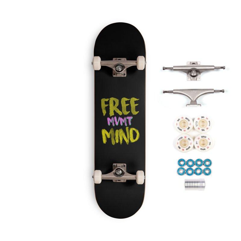 Freemind Black BG Accessories Skateboard by FreemindMVMT Merch