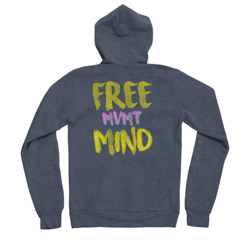 Freemind Black BG Men's Sponge Fleece Zip-Up Hoody by FreemindMVMT Merch