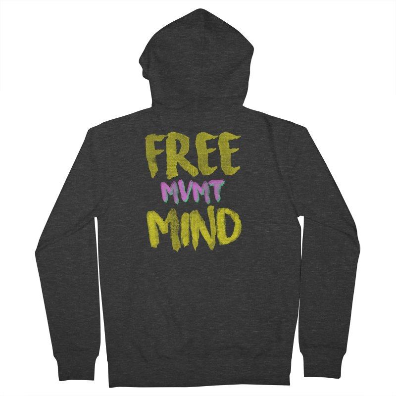 Freemind Black BG Men's French Terry Zip-Up Hoody by FreemindMVMT Merch