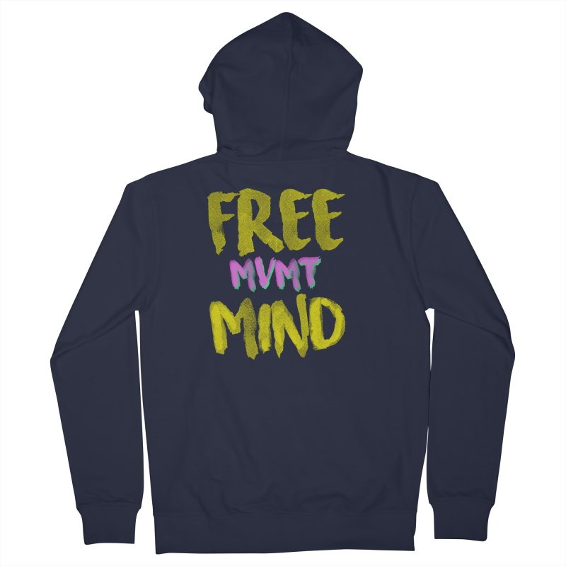 Freemind Black BG Men's French Terry Zip-Up Hoody by FreemindMVMT Merch