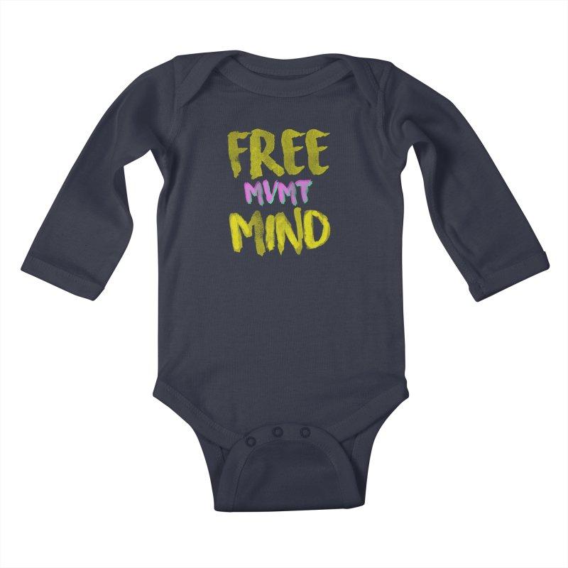 Freemind Black BG Kids Baby Longsleeve Bodysuit by FreemindMVMT Merch