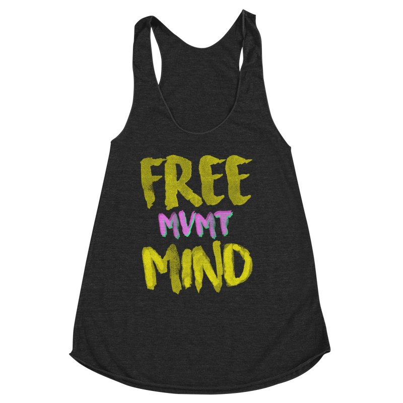 Freemind Black BG Women's Racerback Triblend Tank by FreemindMVMT Merch