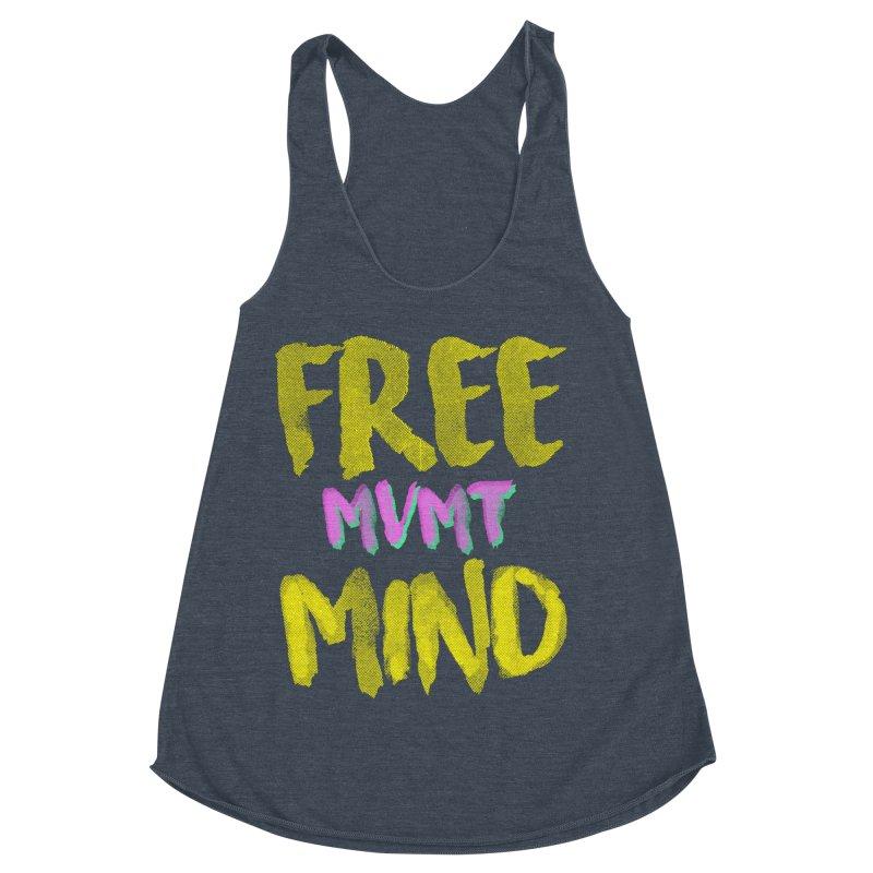 Freemind Black BG Women's Racerback Triblend Tank by FreemindMVMT Merch