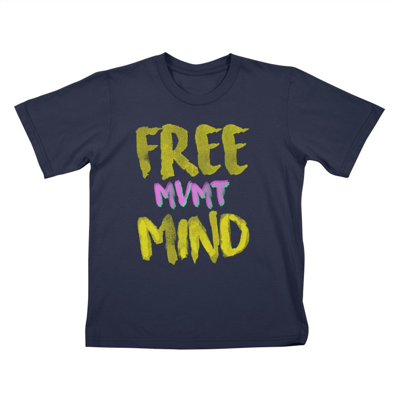 Freemind Black BG Kids T-Shirt by FreemindMVMT Merch