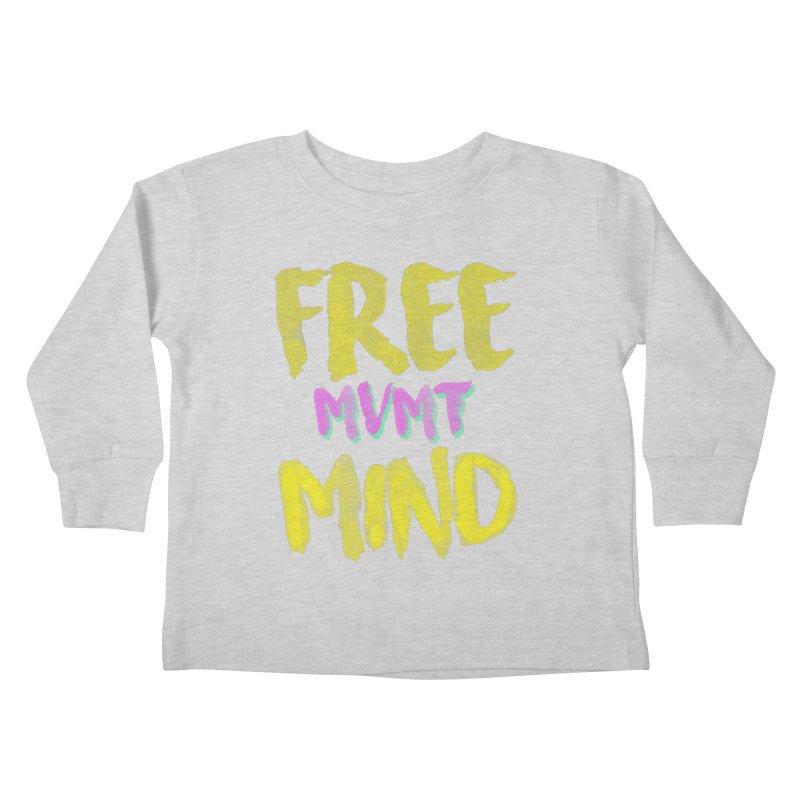 Freemind Black BG Kids Toddler Longsleeve T-Shirt by FreemindMVMT Merch