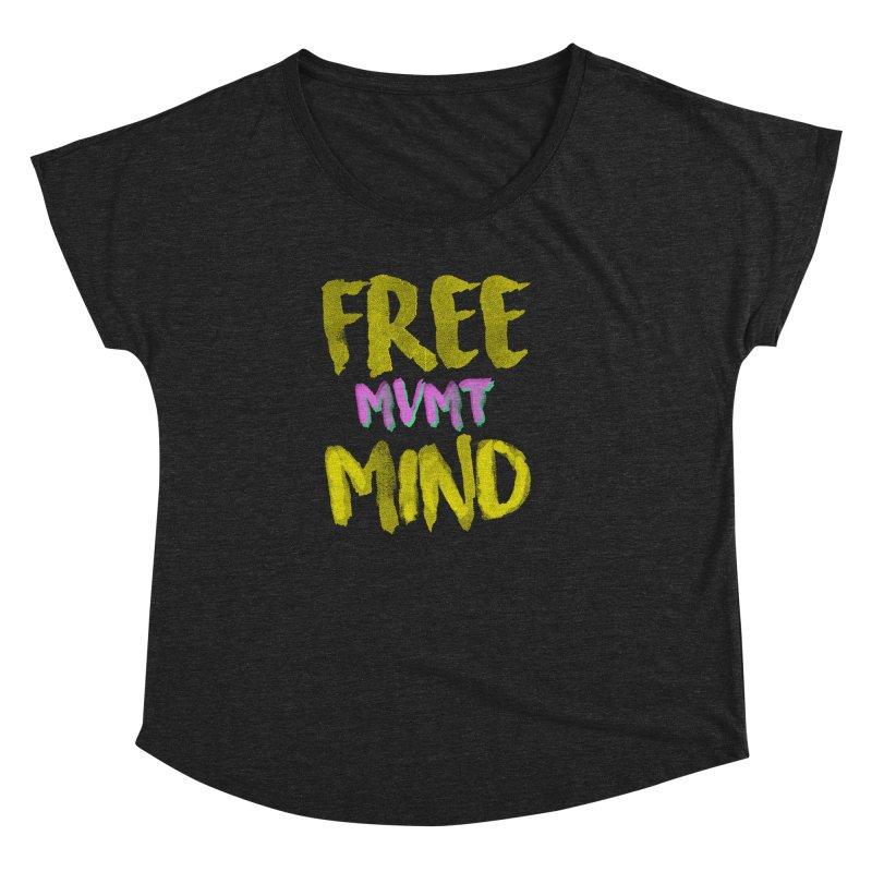 Freemind Black BG Women's Dolman Scoop Neck by FreemindMVMT Merch