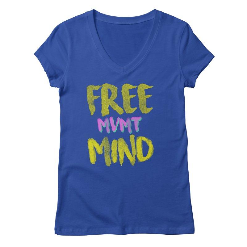 Freemind Black BG Women's Regular V-Neck by FreemindMVMT Merch