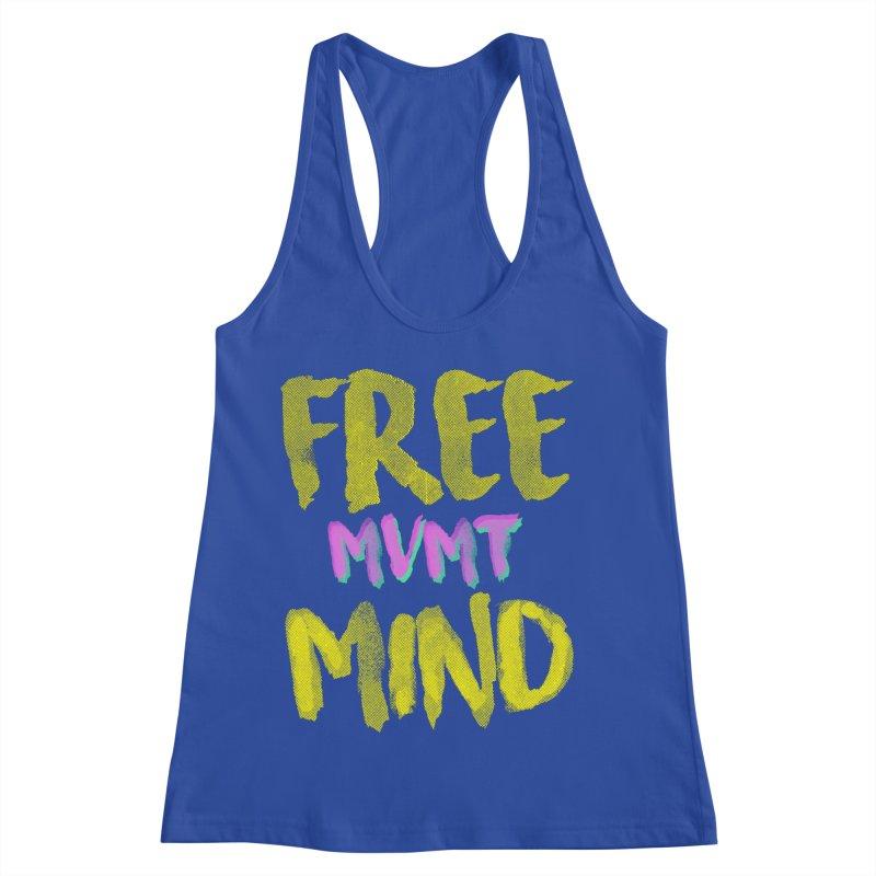 Freemind Black BG Women's Racerback Tank by FreemindMVMT Merch