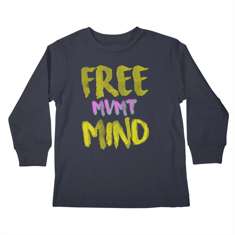Freemind Black BG Kids Longsleeve T-Shirt by FreemindMVMT Merch