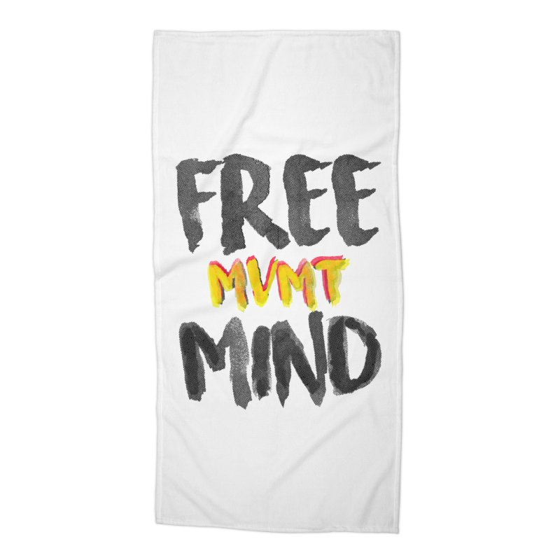 Freemind White BG Accessories Beach Towel by FreemindMVMT Merch