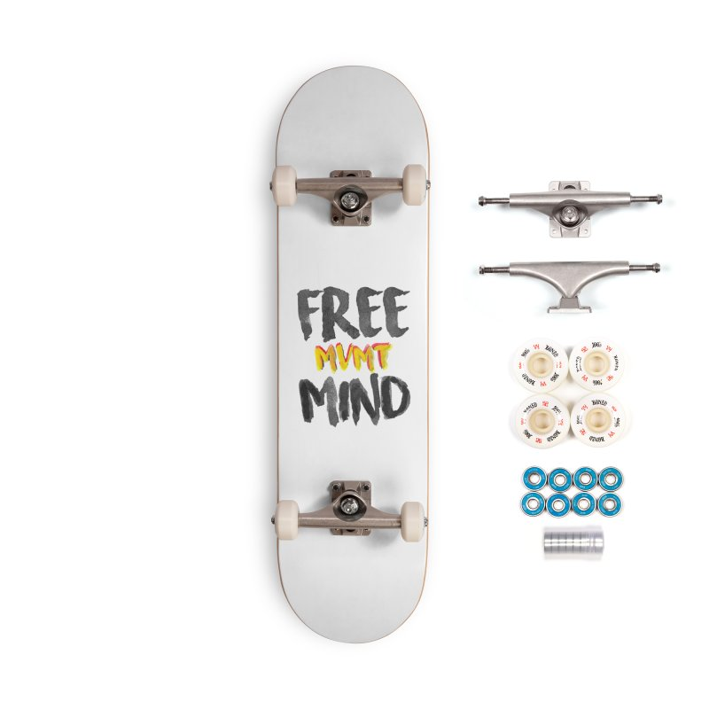 Freemind White BG Accessories Complete - Premium Skateboard by FreemindMVMT Merch