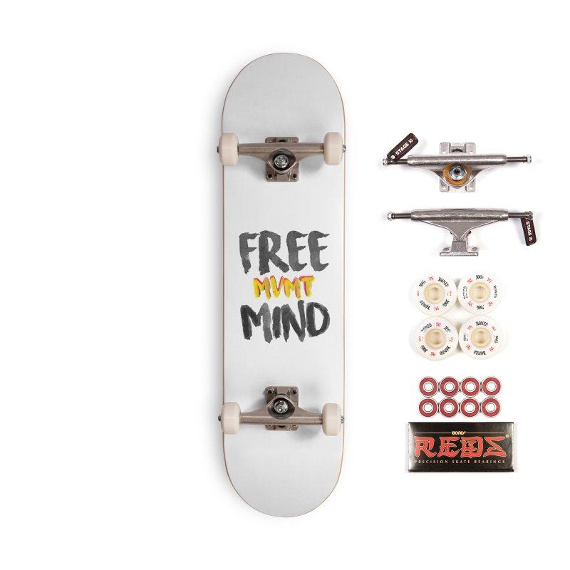 Freemind White BG Accessories Skateboard by FreemindMVMT Merch