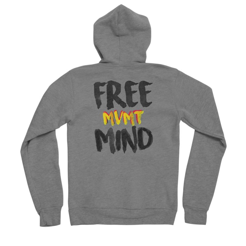 Freemind White BG Men's Sponge Fleece Zip-Up Hoody by FreemindMVMT Merch