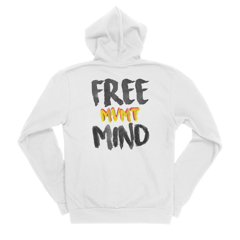 Freemind White BG Women's Sponge Fleece Zip-Up Hoody by FreemindMVMT Merch