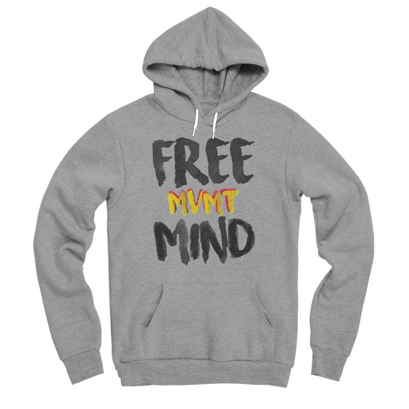 Freemind White BG Men's Sponge Fleece Pullover Hoody by FreemindMVMT Merch