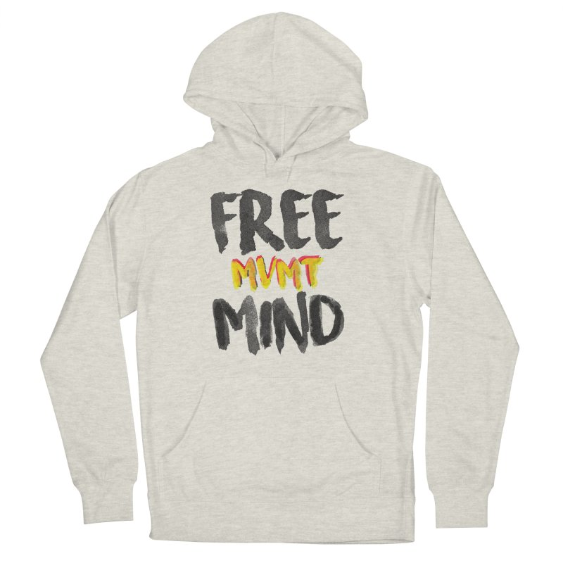 Freemind White BG Men's French Terry Pullover Hoody by FreemindMVMT Merch