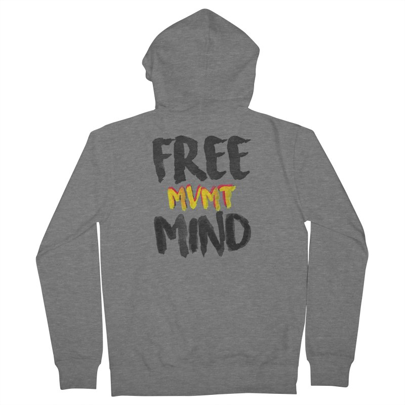 Freemind White BG Women's Zip-Up Hoody by FreemindMVMT Merch