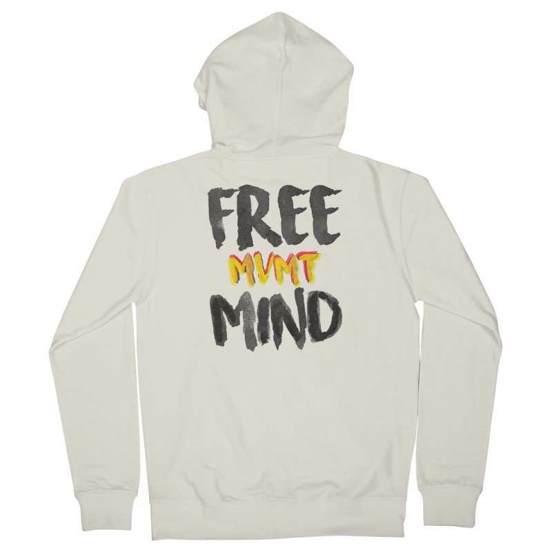 Freemind White BG Women's French Terry Zip-Up Hoody by FreemindMVMT Merch