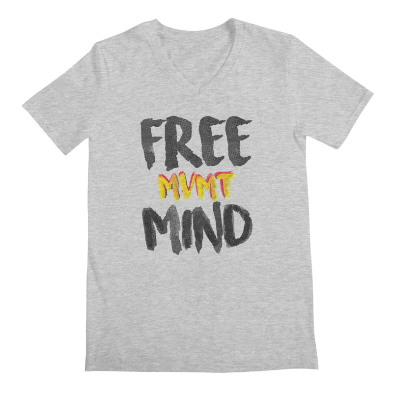 Freemind White BG Men's V-Neck by FreemindMVMT Merch
