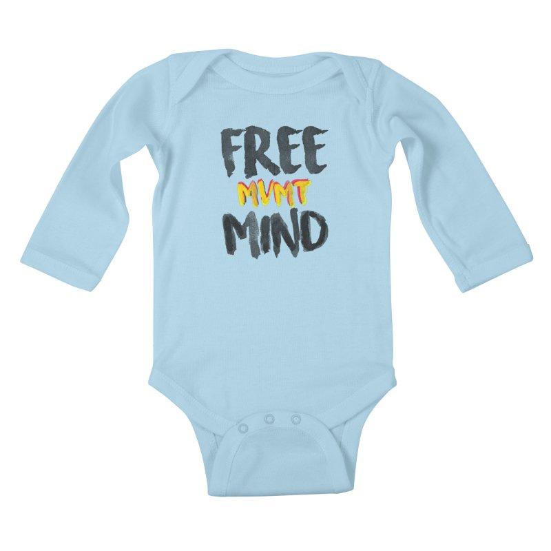 Freemind White BG Kids Baby Longsleeve Bodysuit by FreemindMVMT Merch