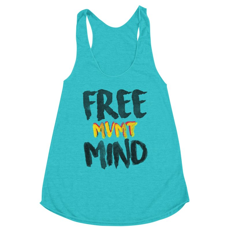 Freemind White BG Women's Racerback Triblend Tank by FreemindMVMT Merch