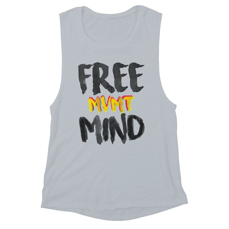 Freemind White BG Women's Muscle Tank by FreemindMVMT Merch