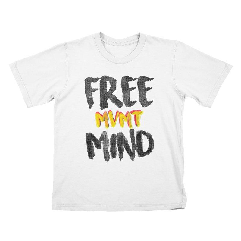 Freemind White BG Kids T-Shirt by FreemindMVMT Merch