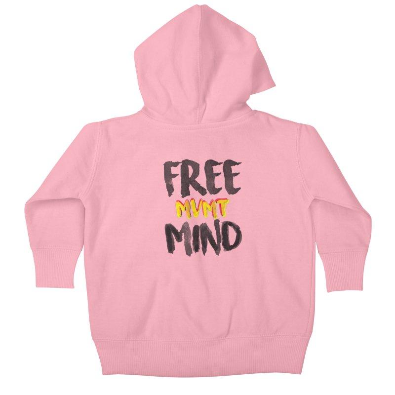 Freemind White BG Kids Baby Zip-Up Hoody by FreemindMVMT Merch
