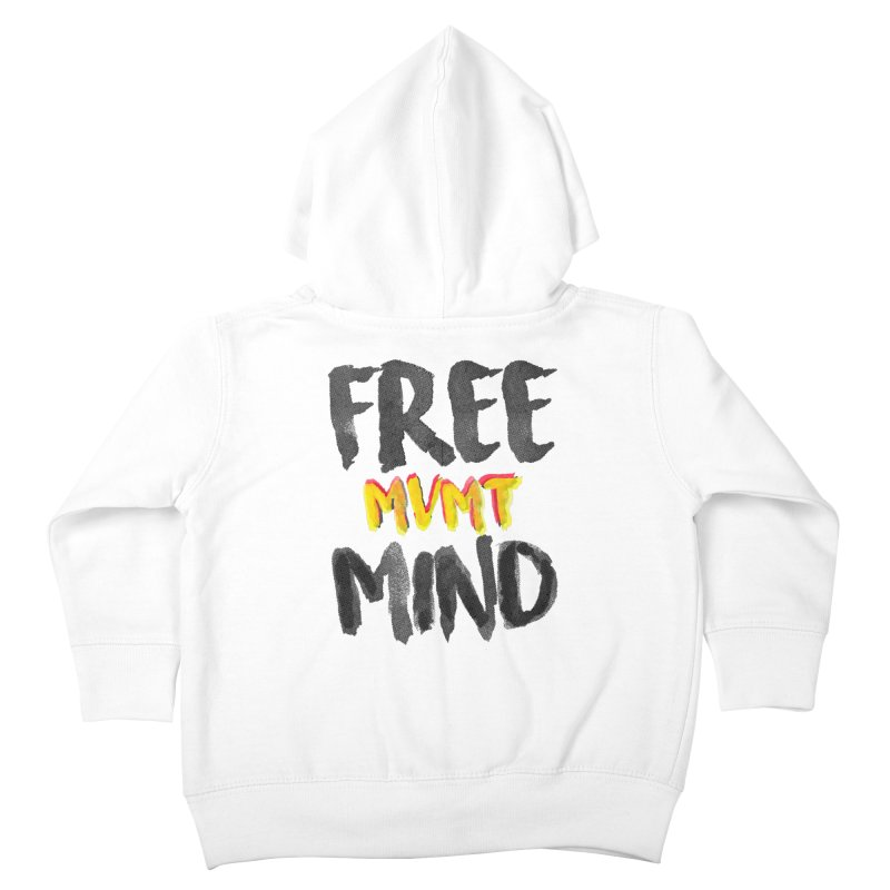 Freemind White BG Kids Toddler Zip-Up Hoody by FreemindMVMT Merch
