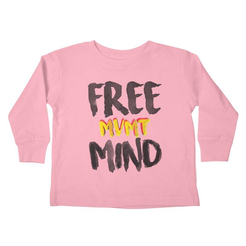 Freemind White BG Kids Toddler Longsleeve T-Shirt by FreemindMVMT Merch