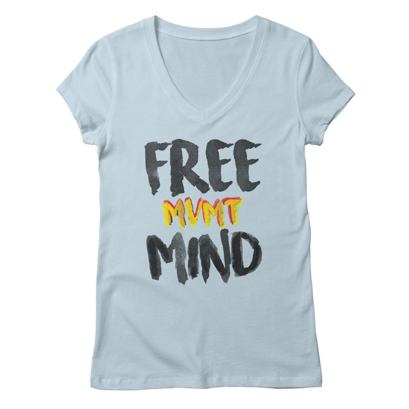 Freemind White BG Women's Regular V-Neck by FreemindMVMT Merch