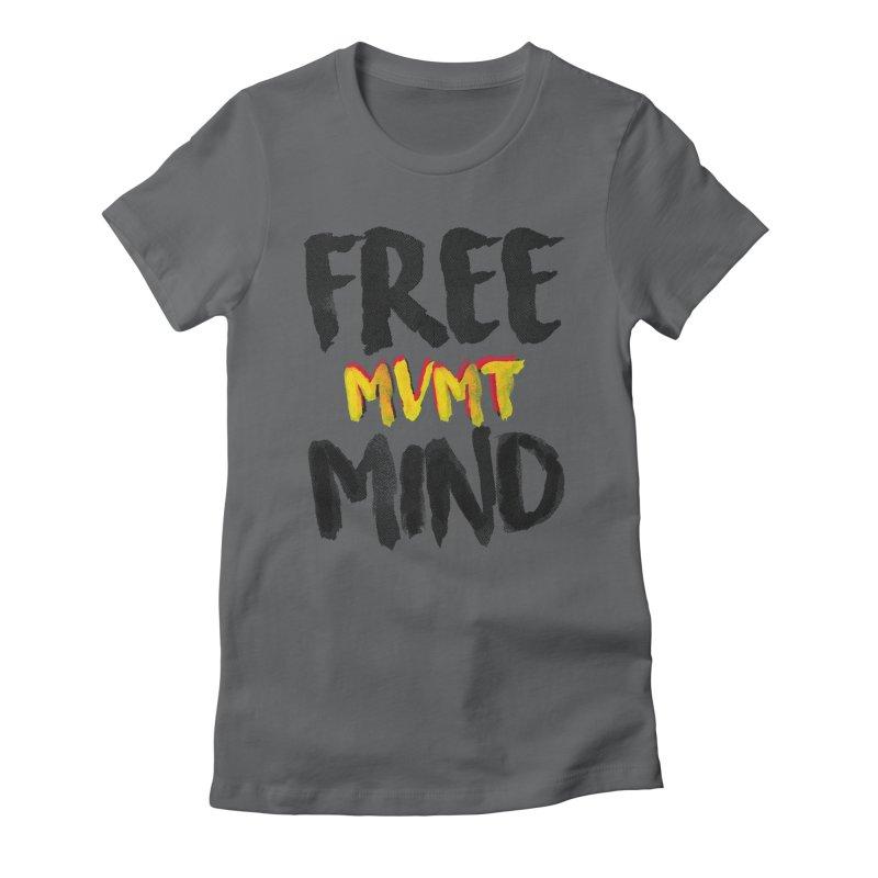 Freemind White BG Women's Fitted T-Shirt by FreemindMVMT Merch