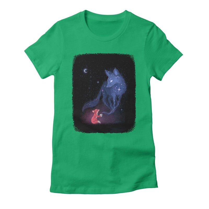 Celestial Women's Fitted T-Shirt by Freeminds