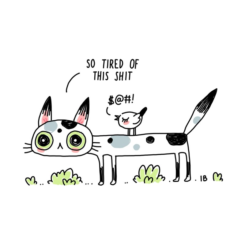 Annoyed Cat   by Freeminds's Artist Shop