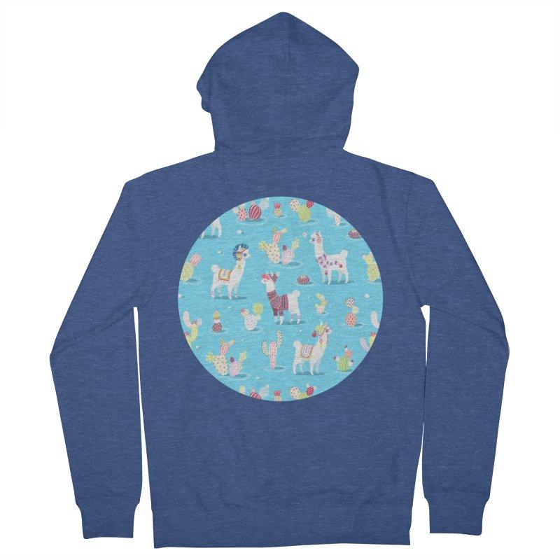 Alpaca Pattern Women's Zip-Up Hoody by Freeminds's Artist Shop