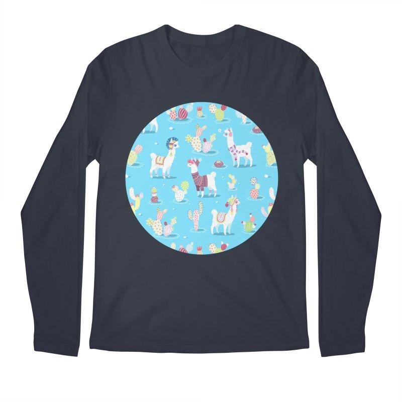 Alpaca Pattern Men's Longsleeve T-Shirt by Freeminds's Artist Shop