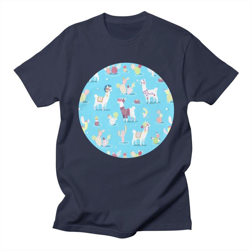 Alpaca Pattern Men's T-shirt by Freeminds's Artist Shop